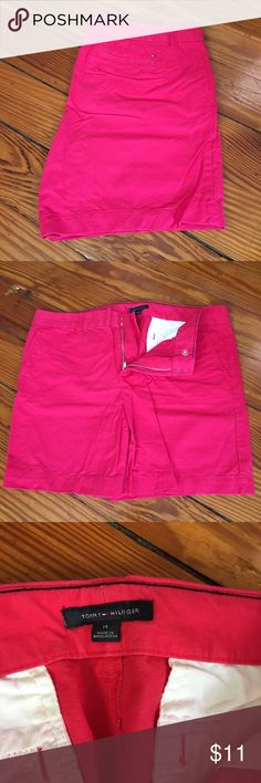 Tommy Hilfiger shorts Gently used but in like new condition Tommy Hilfiger shorts. Size 14 with 7 inch inseam.   From clean home, non smoking, no pets. Please comment with any questions and bundle and save! Tommy Hilfiger Shorts