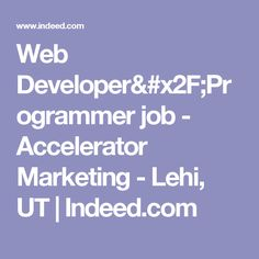 Ruby Software Developer Job  Nuvi  Lehi Ut  IndeedCom  Jobs