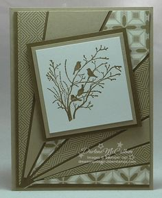 Serene Silhouettes Starburst Card-Stamps: Serene Silhouettes Paper: Comfort Cafe, Crumb cake, Soft Suede, Whisper White Ink: Soft Suede