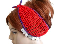 Red Knit Head band, Women Headband, Gypsy Headband, Adult Head band, Turban Head band, Head band Adult, Crochet Head band, Handmade Headband   Red merserized yarn was used. The edges are purple. The silver color was decorated with beads.  You can use it as a headband and in your neck. Excellent accessory.  You can use it in all seasons. Hair adds beauty. Stylish style headband.    MAINTENANCE INSTRUCTIONS Hand washing. Leave it to the institution.   Deliveries will be sent within 1-3 days of…