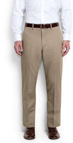 Lands'end Men's Big & Tall Plain Front Traditional Fit No Iron Chino Pants Mens Big And Tall, Big & Tall, Tall Pants, Khaki Pants, Lands End, Thighs, Iron, Traditional, Legs