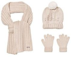 Mayoral Cream Knitted Pom Pom Hat, Scarf and Gloves Set with Diamante Detail