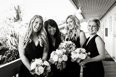Shop the best bridesmaid dresses by Jenny Yoo, Watters, Sorella Vita and many more. Meet your free style consultant and try on bridesmaid dresses at home. Black Bridesmaids, Black Bridesmaid Dresses, Nautical Wedding, Black And White Pictures, Real Weddings, Elegant, Summer, Inspiration, Style