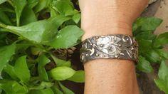CHANGE    Cuff-Dove-Bird-inspirational-Bronze-Sterling Silver.
