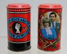 Queen Elizabeth and Diana Commemorative Money Boxes
