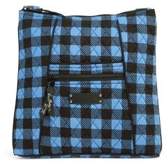 Vera Bradley Hipster Crossbody in Alpine Check ($42) ❤ liked on Polyvore featuring bags, handbags, shoulder bags, alpine check, sale, vera bradley crossbody, cross-body handbag, blue crossbody, blue crossbody purse and blue cross body purse