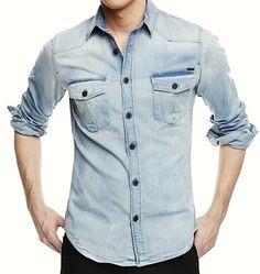denim shirt by he by mango