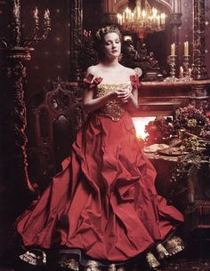 "miss-mandy-m: "" Drew Barrymore in Christian Lacroix Haute Couture photographed by Annie Leibovitz for Vogue, April 2005. """