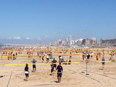 Many courts at the beach