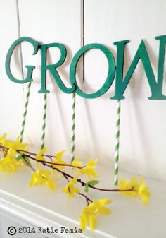 Brighten up any room with this DIY spring mantle decoration.
