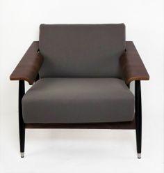 Gray Wool Lounge Chair