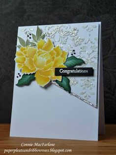 Paper Pleats and Ribbon Roses: Peony Wedding Card - Altenew - Peony Bouquet