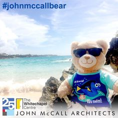 #JohnMcCallBear goes to Bermuda to raise money for the Whitechapel Centre and celebrate John McCall Architects 25th Anniversary