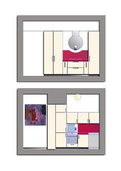 Ristrutturazione villa unifamiliare - Prospetti laterali cucina - Maria Teresa Azzola Designer - Calolziocorte (LC) 2011