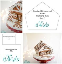 Free printable gingerbread house template. Use the tried and true White House gingerbread house recipe and this template to bake up the perfect Christmas gingerbread cottage. Now updated to include the door and windows!