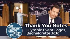 Thank You Notes: Olympic Event Logos, Bachelorette JoJo