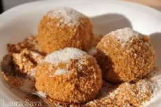 Galuste cu prune de post | Retete culinare cu Laura Sava Romanian Food, Yams, Scones, Muffin, Food And Drink, Sweets, Cooking, Breakfast, Desserts