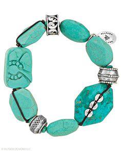 Silpada Vintage All Shades of green Stunning Silpada Designs 5 layer Bracelet