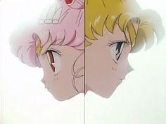 Rini aka Sailor Mini Moon and Serena aka Sailor Moon Sailor Moon Screencaps, Sailor Chibi Moon, Pikachu, Fan Art, Crystal, Manga, Usa, Random, Memes