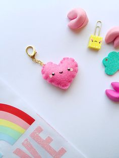 Pink Sweetheart Keychain by LoveNeen on Etsy