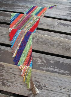 Scrappy hitchhiker scarf