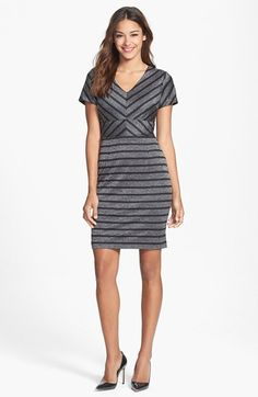 Marc New York by Andrew Marc Mitered Stripe Sheath Dress available at #Nordstrom