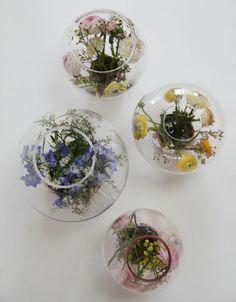Baby que tal este tipo de decoracion para la mesa. me encanta Super chic y super sencillo Flower Traps