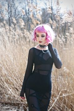 Image about style in Dark and Goth by Miyuki Székely Pastel Goth Outfits, Gothic Outfits, Grunge Outfits, Fashion Outfits, Witch Fashion, Gothic Fashion, Witch Aesthetic, Gothic Beauty, Goth Girls