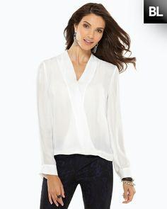 black label surplice blouse
