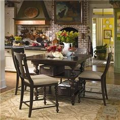 Universal Furniture Paula Deen Home Kitchen Gathering Table Top Counter Height Dining Table, Dining Table In Kitchen, Dining Room Sets, Dining Room Design, Dining Tables, Kitchen Island, Room Kitchen, Kitchen Brick, Kitchen Seating