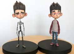 Paranorman armature with finished puppet - Laika