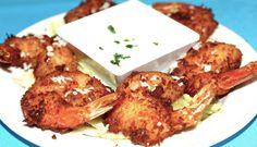 Coconut Shrimp with Piña Colada Dipping Sauce Coconut Shrimp, Pina Colada, Chicken, Meat, Photos, Food, Pictures, Meal, Essen