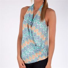 MM Couture by Miss Me Women's Contemporary Printed Surplice Top #VonMaur #MMCouturebyMissMe #Mint #Tank