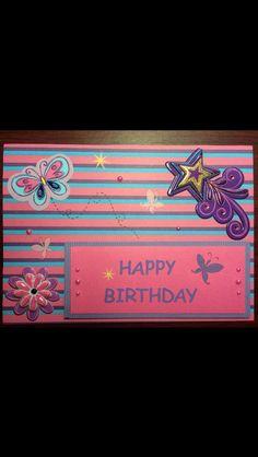 Handmade girl birthday card