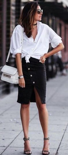 |  Rita and Phill specializes in custom skirts. Follow us for more inspiration and ideas on the latest skirt fashion! https://www.pinterest.com/ritaandphill/trendy-office-outfits