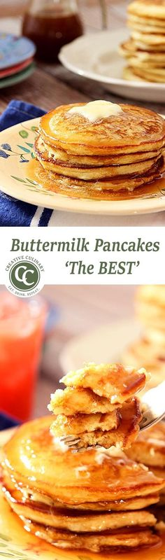 The Best Buttermilk Pancakes and a Delicious Homemade 'Mr. Butterworth's Syrup from Creative-Culinary.com