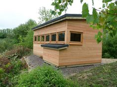 A little bird hide for Berkshire Wildlife. Lots of viewing panels to make bird spotting easier