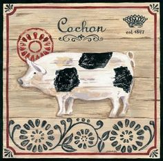 Vintage French Farm Pig (Jennifer Brinley)
