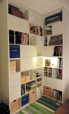 Bookcases & Shelving Published on December 3rd, 2015 | by IH guest Materials: 2 Kallax shelves 4×2 boxes 2 Kallax shelves 4×4 boxes 12 doors, 3 baskets 4×2 drawers. Price : 800€ Time : 30 hours We ...