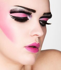 Creative Lashes Beauty Shoot by Sarah Baldwin, via Behance