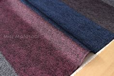 Japanese Fabric With Reality - faux wool twill canvas - stripes - 85% cotton, 15% linen, brushed canvas