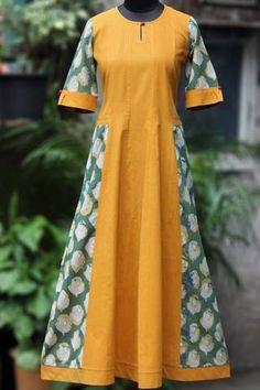 a-line dress - sun & the swan love Salwar Designs, Kurti Neck Designs, Girls Fashion Clothes, Fashion Dresses, Clothes For Women, Dress Neck Designs, Blouse Designs, Long Kurti Patterns, Shweshwe Dresses