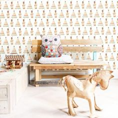 Studio Ditte 2013 - Home BN Wallcoverings Tipi Bedroom Wallpaper India, Kids Room Wallpaper, Home Wallpaper, Wallpaper Roll, Cool Kids Bedrooms, Kids Rooms, Childrens Rooms, Indian Teepee, Special Wallpaper