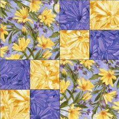 yellow and blue quilts - Google Search