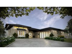 Home Plan HOMEPW78087 is a gorgeous 3349 sq ft, 2 story, 4 bedroom, 4 bathroom plan influenced by  Contemporary-Modern Homes style architecture.