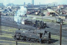 80143 and 34108 at Nine Elms in May 1967. (George Woods)