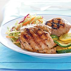 Apricot-glazed grilled chicken from Cooking Light Magazine, June 2009