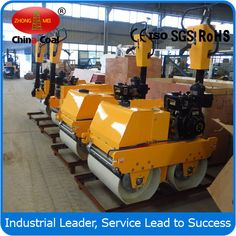 550kg Walk-behind Self-propelled Vibratory Road Roller (FYL-S600C) FYL-S600C is 550kg diesel engine road roller, both drums drive and vibration. Therefore the machine is suitable for a wide range of soil and asphalt compaction applications. The radius of this roller is small, can work in small area.