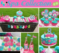 Spa Girls Birthday Party decorations PRINTABLE por CupcakeExpress