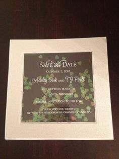 Save the date by c'est papier